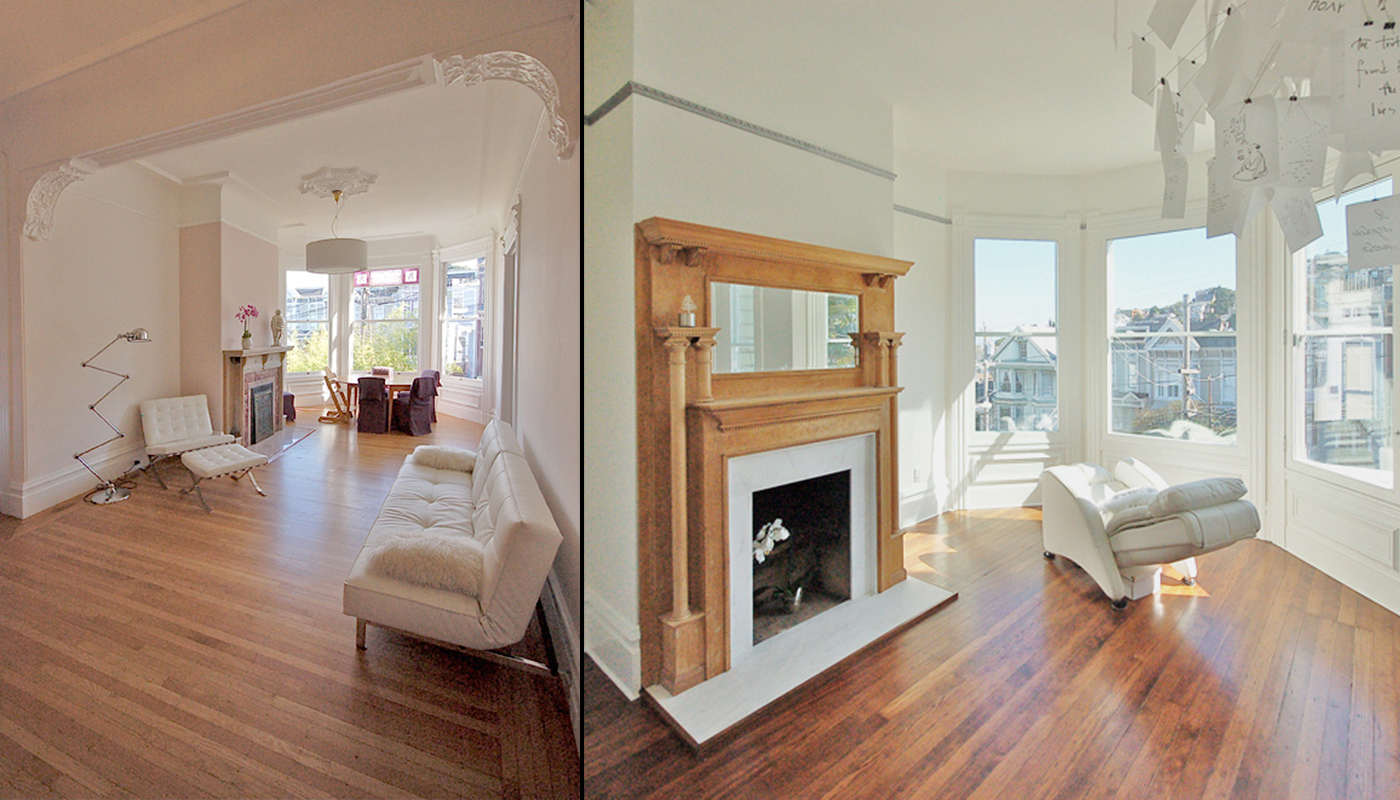 19 Before After Castro Fireplace Living Room